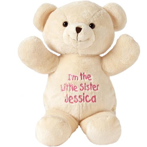 Personalized Little Sister Plush Bear