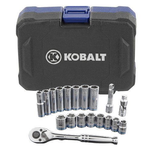 Kobalt 0338525 19 pc. Metric Socket Tool Set