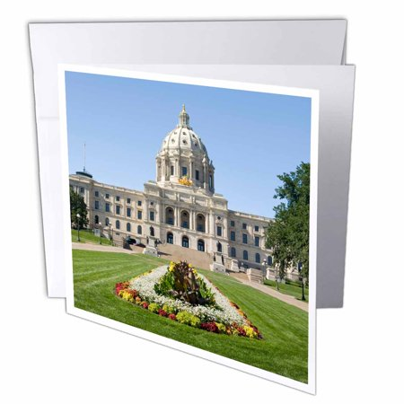 3dRose State Capitol Building, St Paul, Minnesota - US24 KRS0001 - Keith and Rebecca Snell, Greeting Cards, 6 x 6 inches, set of 12
