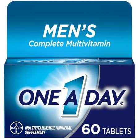 One A Day Men's Multivitamin Tablets, Multivitamins for Men, 60 Count One Daily 60 Tablets