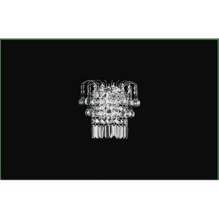 Eurofase Lighting Crystal Sconce - Crystal World 2 Light Chrome Wall Sconce