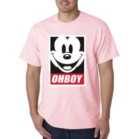 416 - Unisex T-Shirt Oh Boy Mickey Mouse Face Anonymous Dope