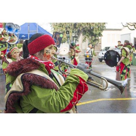LAMINATED POSTER Carnival Trumpet Glarus Music Costume Instrument Poster Print 24 x 36