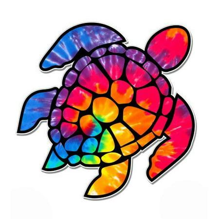 Tie Dye Sea Turtle - Vinyl Sticker Waterproof Decal Sticker (Sea Turtle Tie)