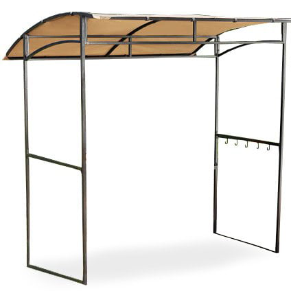 Garden Winds Curved Grill Shelter Gazebo Replacement Canopy Top by
