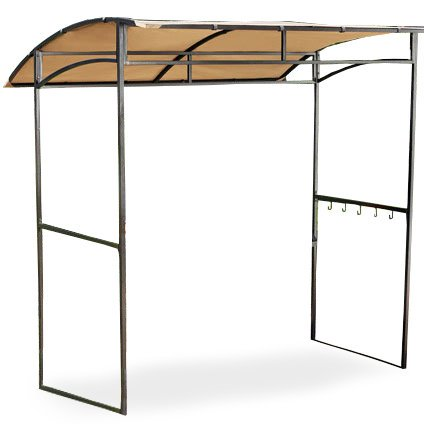 Garden Winds Curved Grill Shelter Gazebo Replacement Canopy Top ()