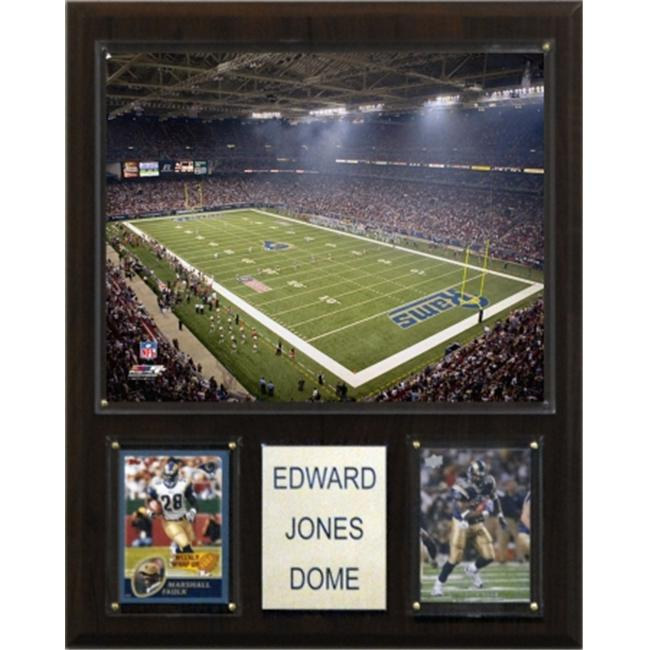 C & I Collectables 1215EDJODM NFL Edward Jones Dome Stadium Plaque