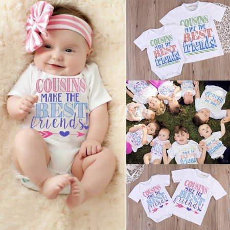 2017 New Baby Boys Girls Family Matching Romper Outfits Kids T-shirts Tops Set (New Outfit 2017)