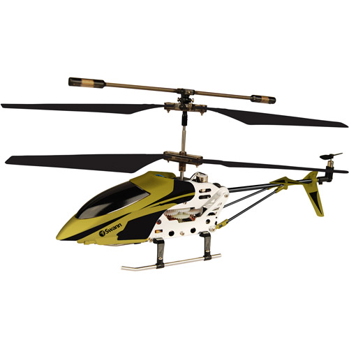 Swann Micro Lightning Radio-Controlled Helicopter, Gold/Black