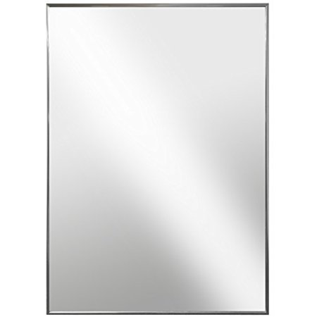Raphael Rozen - Modern Hanging Framed Wall Mounted Metal Mirror, Aluminum Chrome ()
