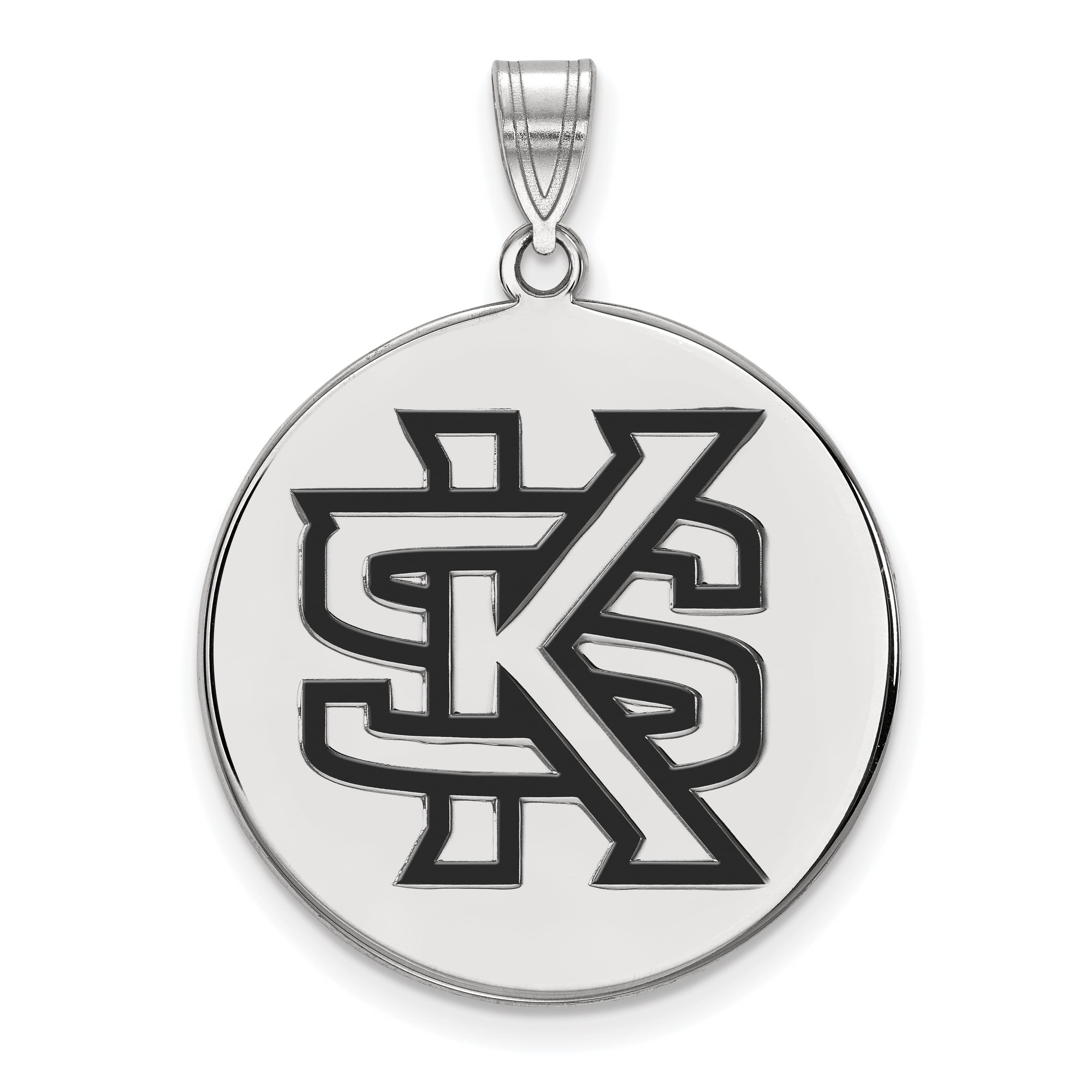 White Sterling Silver Charm Pendant California NCAA San Francisco State University 32 mm 25