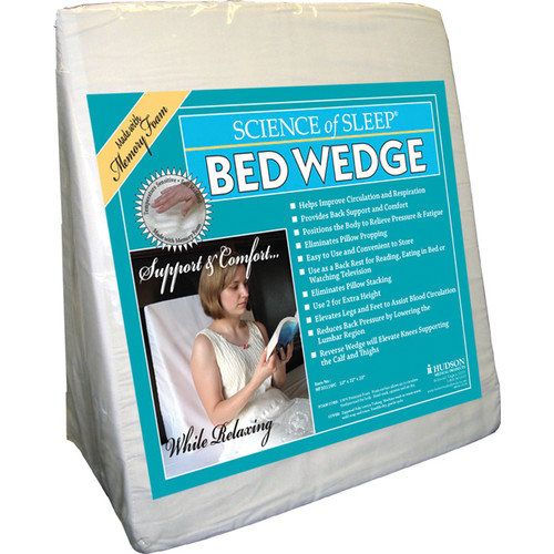 science of sleep memory foam bed wedge pillow