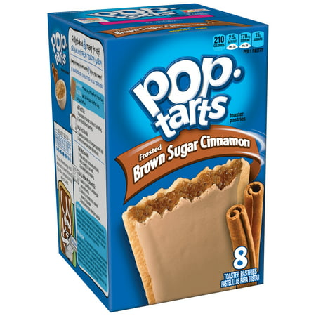 (4 Pack) Kellogg's Pop-Tarts Breakfast Toaster Pastries, Frosted Brown Sugar Cinnamon Flavored, 14 oz 8
