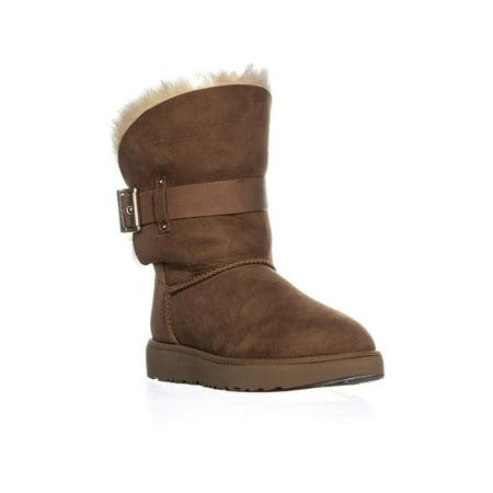 Womens UGG Jaylyn Shearling Boots, Chestnut (Ugg Shearling Hat)