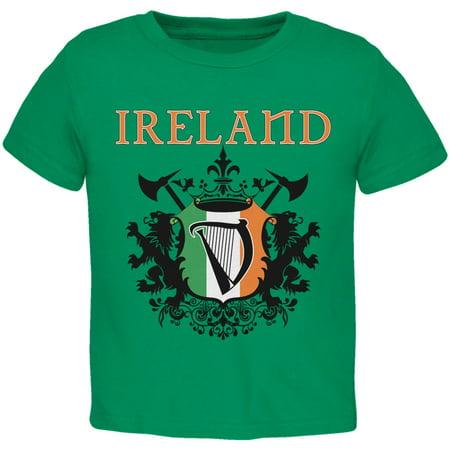 St. Patricks Day - Heraldic Irish Harp Kelly Toddler T-Shirt