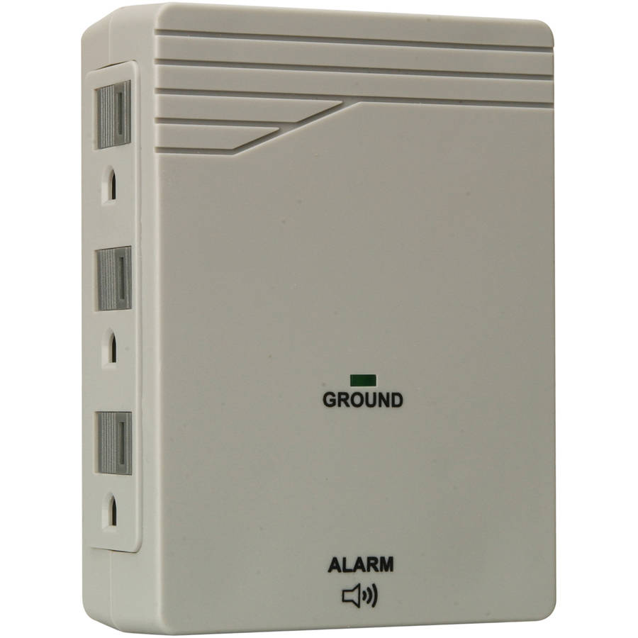 Woods 412038821 6-Outlet 1000 Joules Surge Protector Wall Adapter, Light Grey by Woods