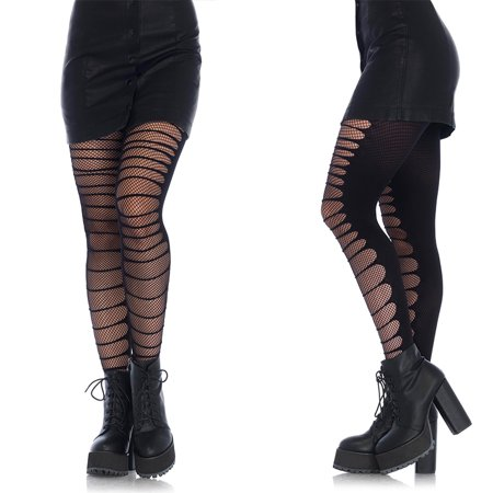 Leg Avenue Double Layer Shredded Spandex & Fishnet Tights (Leg Avenue Fishnet Tights)