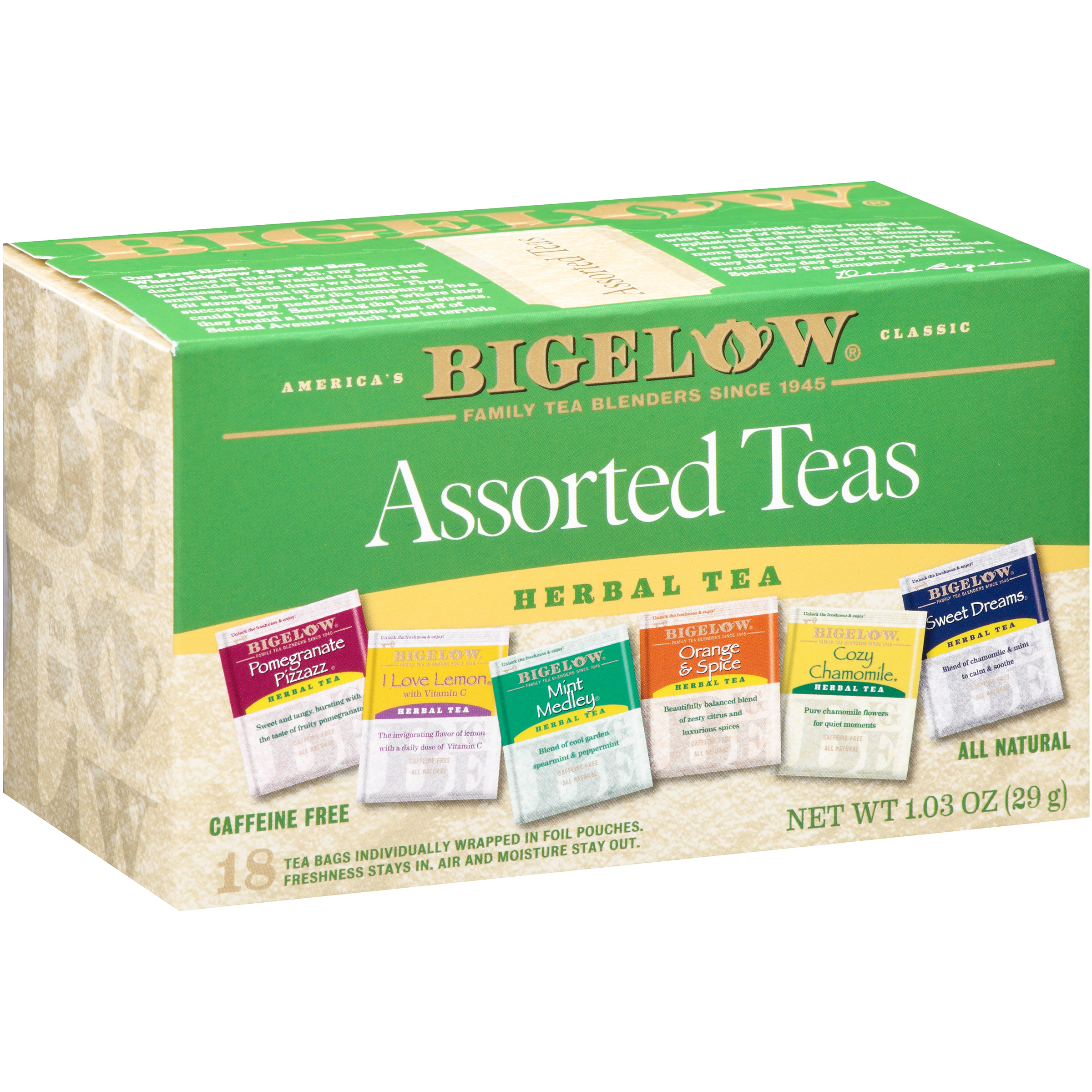 Bigelow® Assorted Teas Herbal Tea Bags 18 ct Box