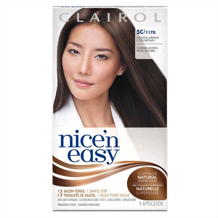 Clairol Nice 'N Easy Permanent Hair Color, 5C/117D Medium Cool