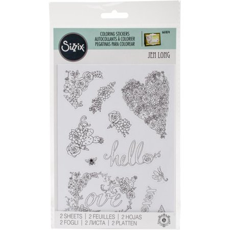 Inbloom Stickers (Sizzix Coloring Stickers By Jen Long-in)