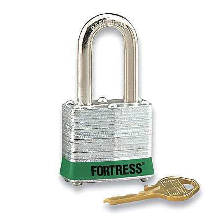 "Lockout Padlock,KD,Green,1-1/4""H MASTER LOCK 1803LHGRN"