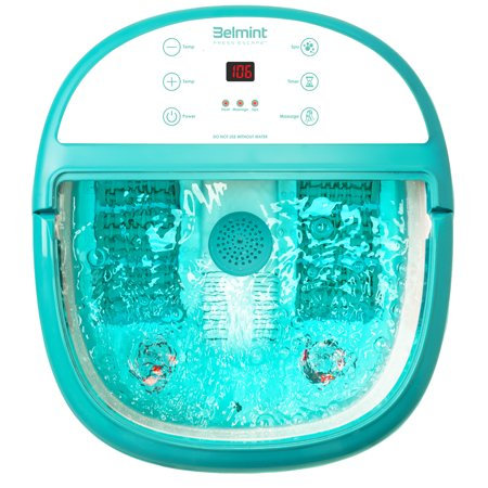 Belmint Foot Spa Bath Massager with Heat, Foot Soaking Tub Features, Bubbles and LCD (Best Foot Bath With Heat And Massage)