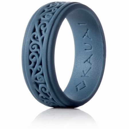 Silicone Rings Elegant, Comfortable, Engagement Wedding Marriage Bands for Men Women Non Conductive Rubber Metal Free Ring, Jewelry, Anniversary, Sports, Gym, Work, Medical Grade Silicone Mens Rubber Band