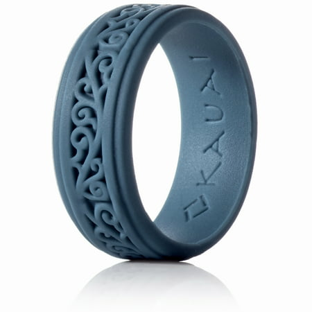 Silicone Rings Elegant, Comfortable, Engagement Wedding Marriage Bands for Men Women Non Conductive Rubber Metal Free Ring, Jewelry, Anniversary, Sports, Gym, Work, Medical Grade Silicone