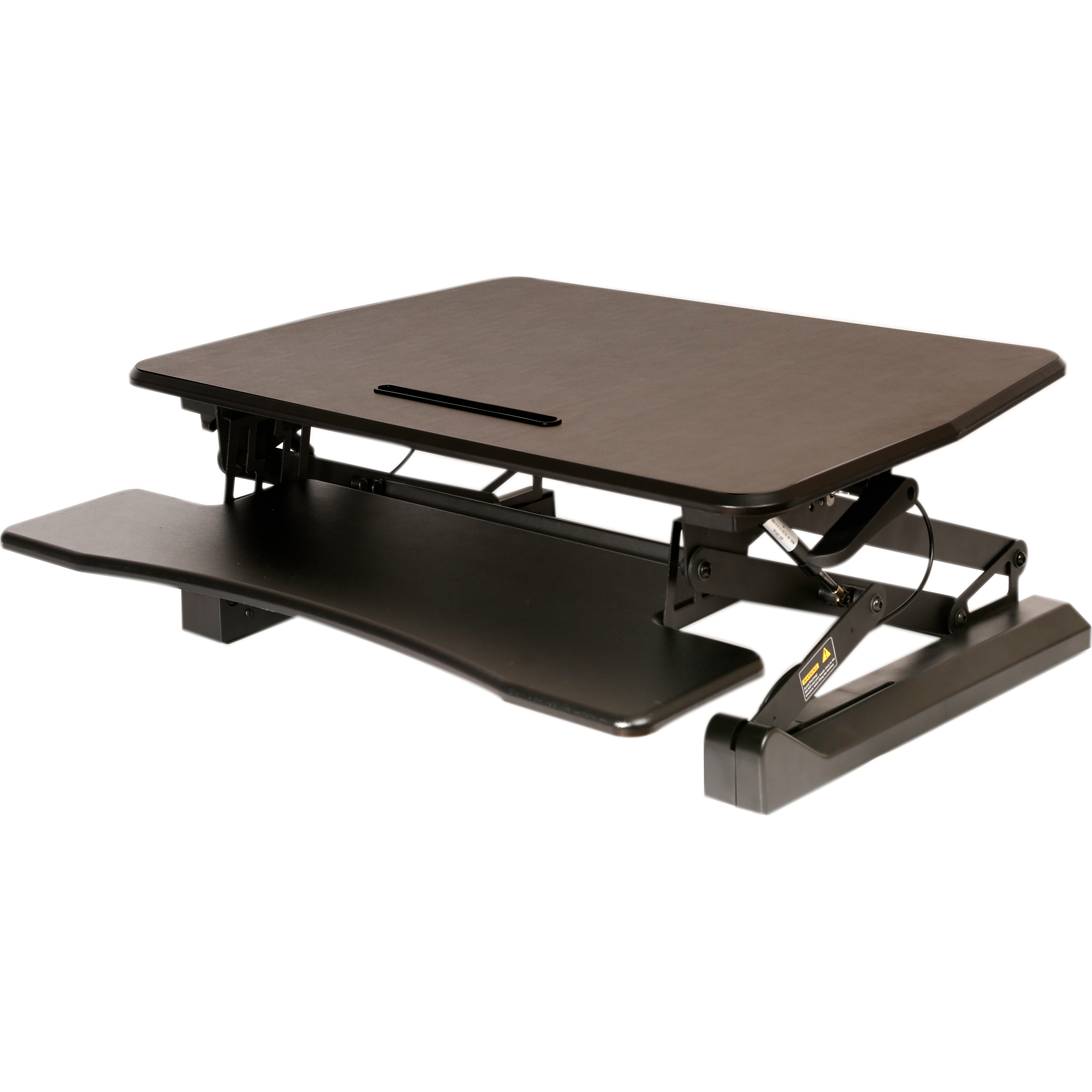 "Seville Classics AIRLIFT Pneumatic Sit-to-Stand Adjustable Desktop Converter, (35.4"" Wide, Keyboard Tray)"
