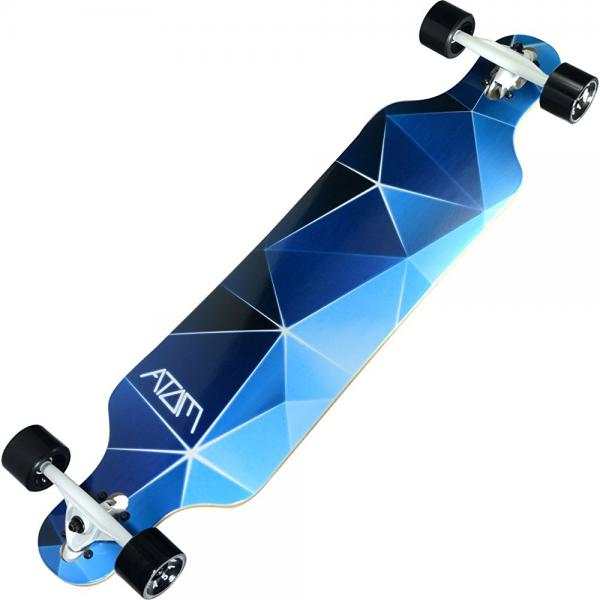 Atom Longboards Atom Drop Through Longboard 40 , Blue Geo by Atom Longboards