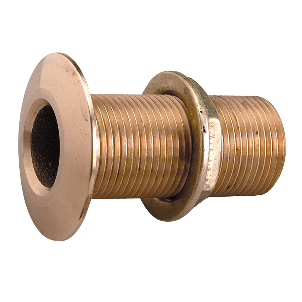 "Perko 0322009PLB Cast Bronze Thru Hull Connector with 2-3/8"" Max Hull Thickness for 2"" Hose"