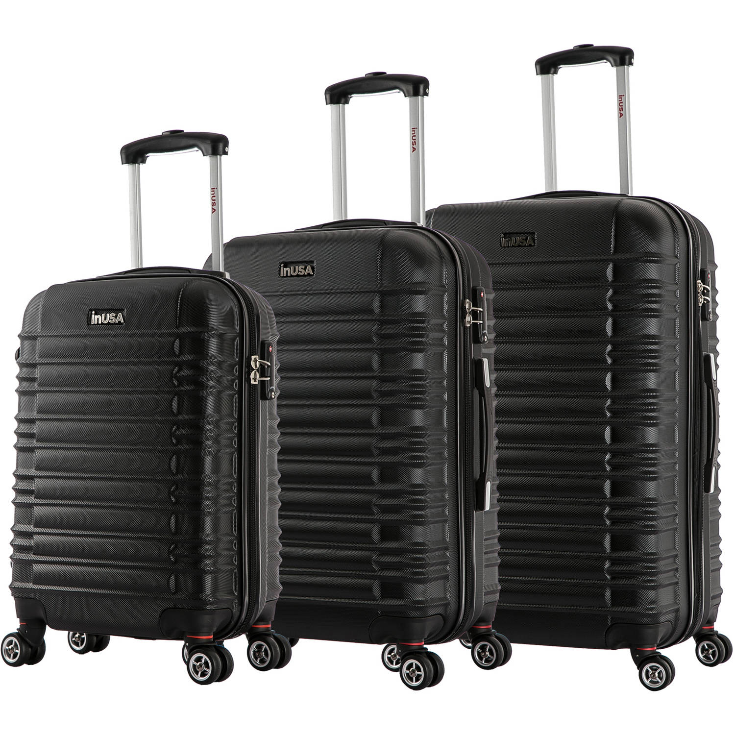 "InUSA New York Collection Lightweight Hardside Spinner 3-Piece Set, 20"", 24"", 28"""