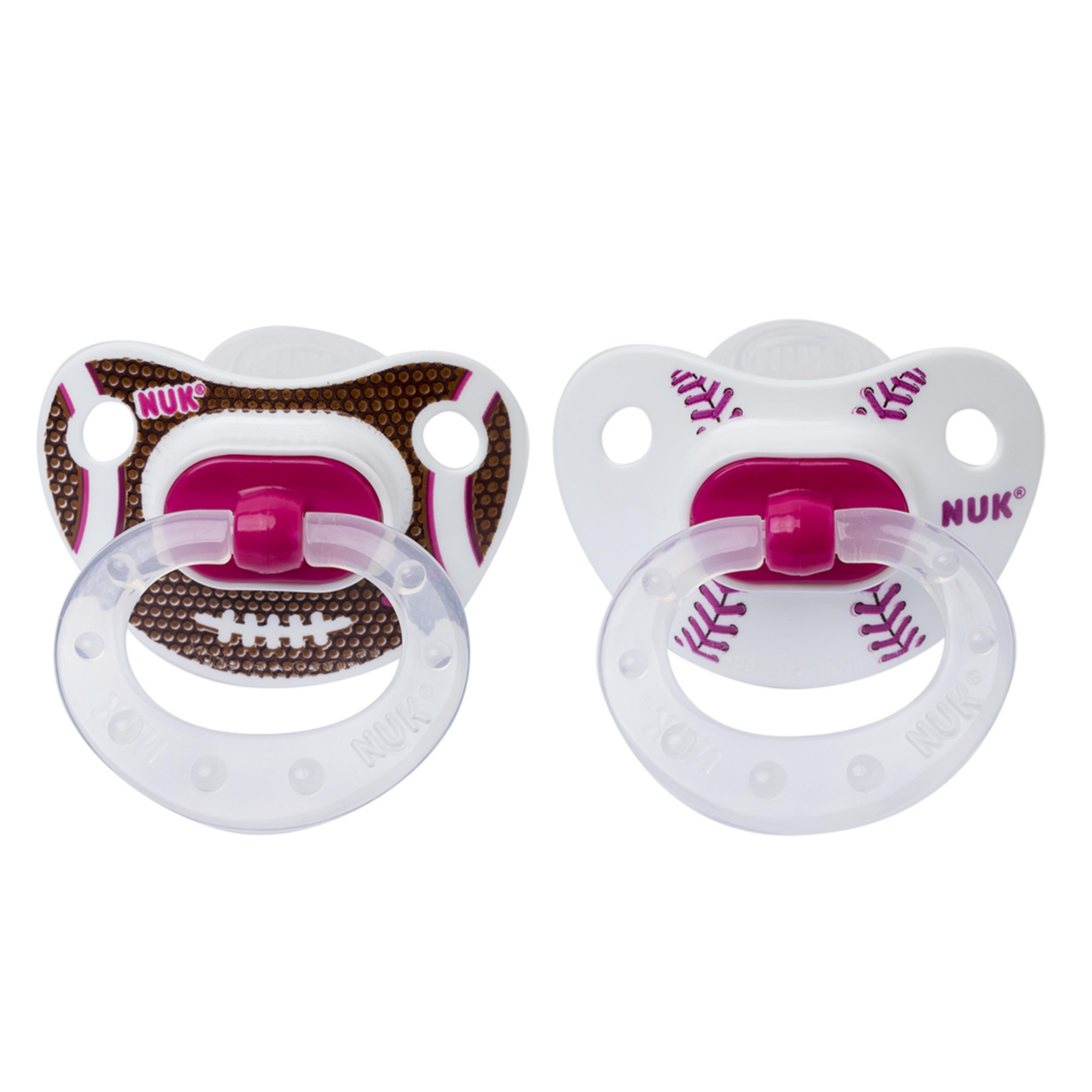 NUK Sports Orthodontic Pacifier, 0-6 Months, 2 pack