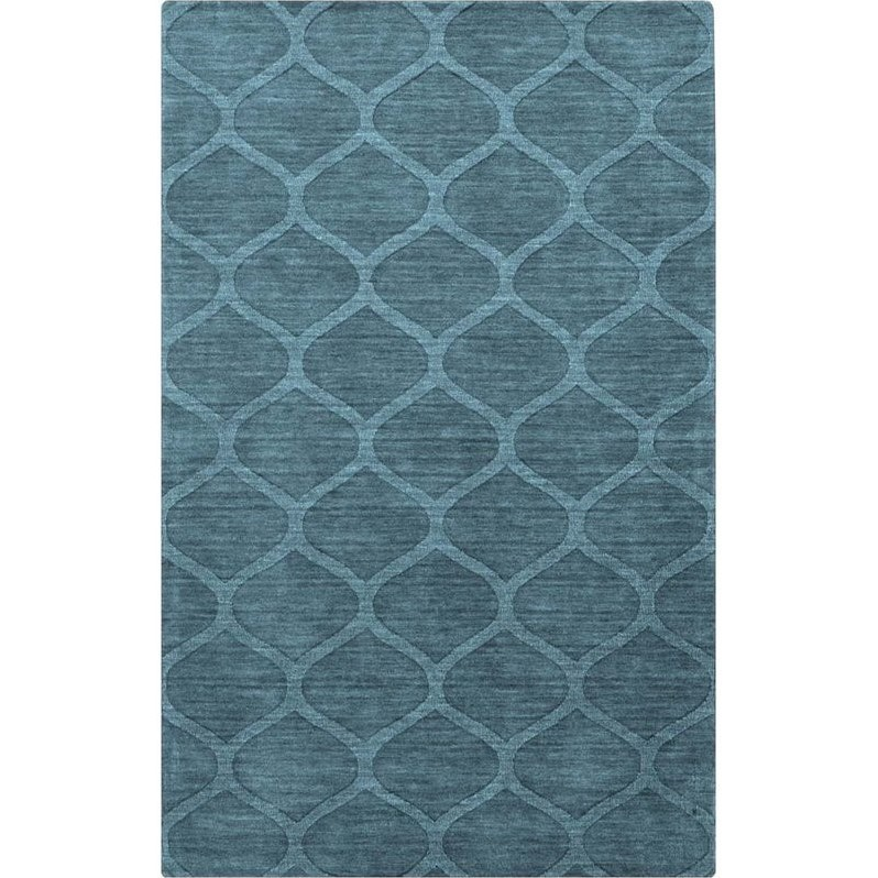 Surya Mystique 2' x 3' Hand Loomed Wool Rug in Green and Blue