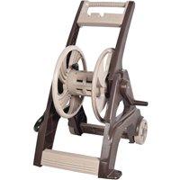 Reel Easy 2385580 175' Dark Brown & Tan Poly Hose Reel Cart