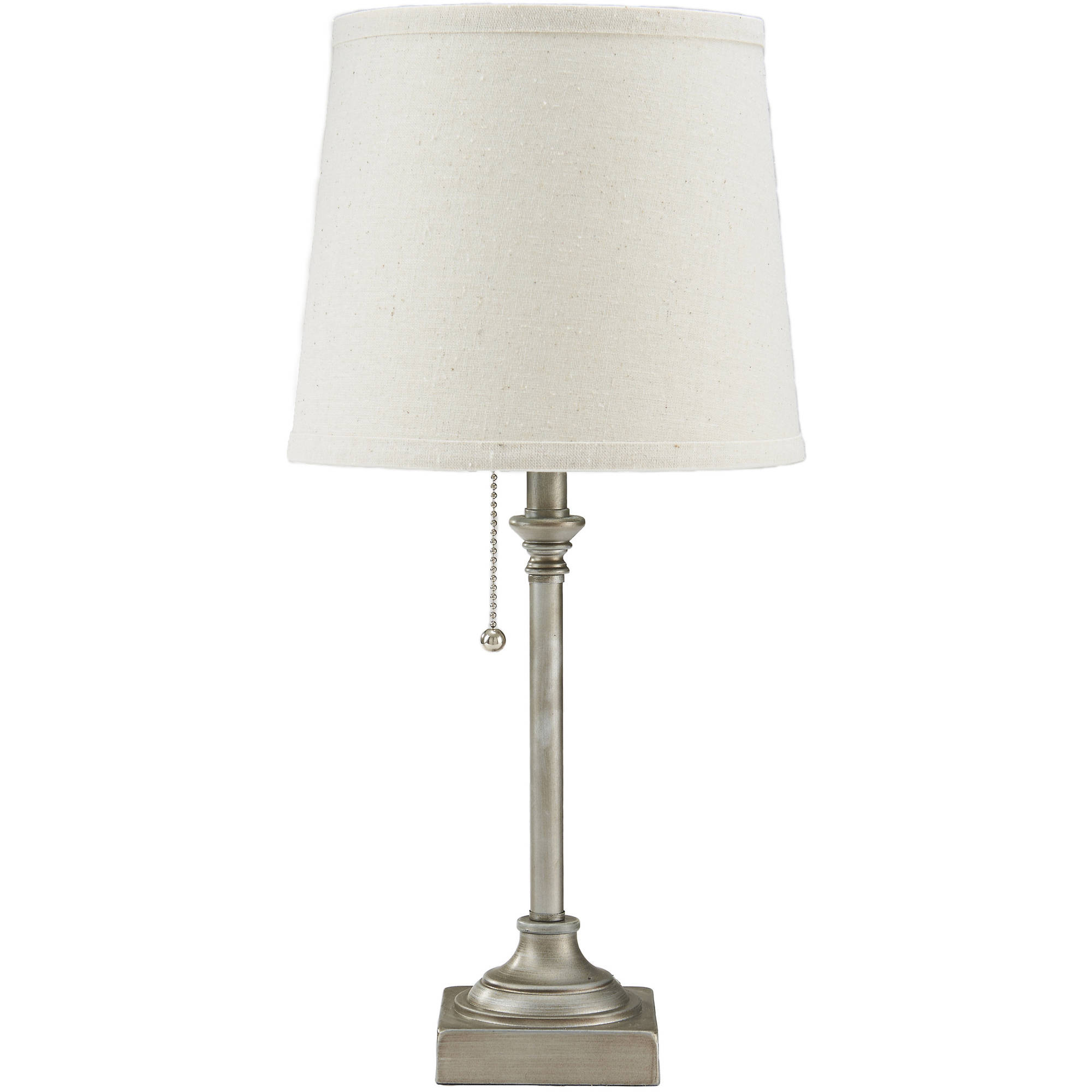 "Mainstays 19"" Pull Chain Accent Lamp, Silver Finish by Evolution Lighting"