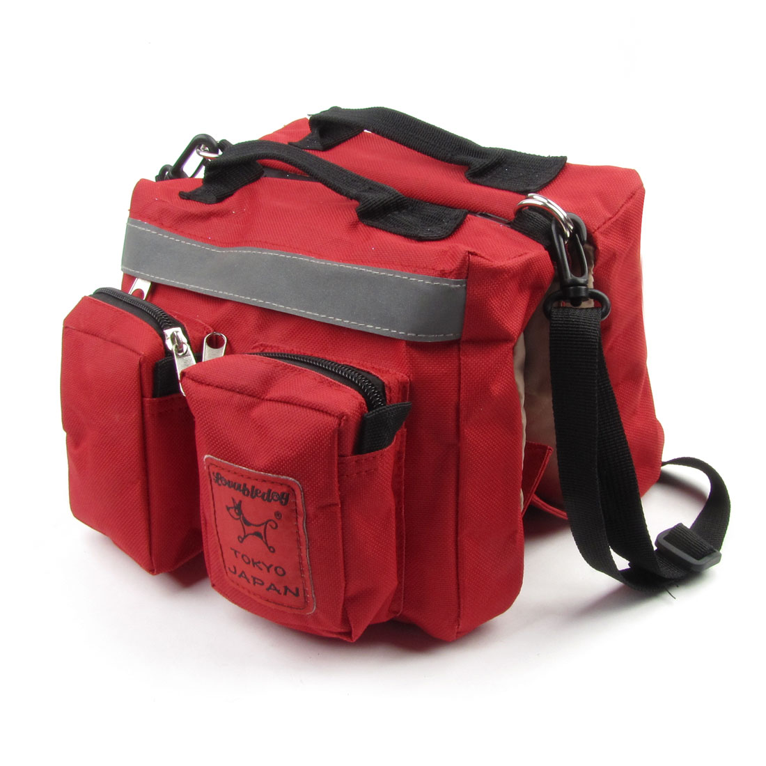 Casual Traveling Nylon Pet Dog Cat Backpack Knapsack Saddlebag Size L