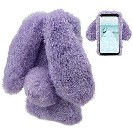 LCHDA Samsung Galaxy Note 9 Rabbit Case,Samsung Galaxy Note 9 Rabbit Fur Case Bunny Ear Phone Case for Girls Fuzzy Cute