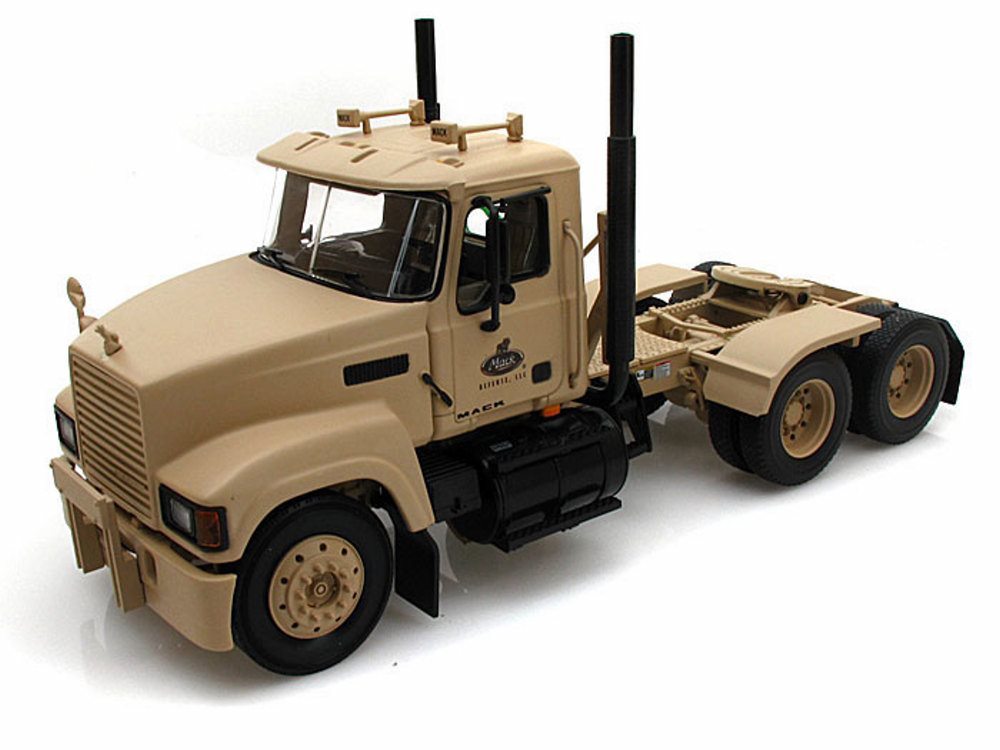 Mack Pinnacle Axle-Forward Tractor, Desert Tan First Gear Military Defense 1 34 scale diecast model car by First Gear