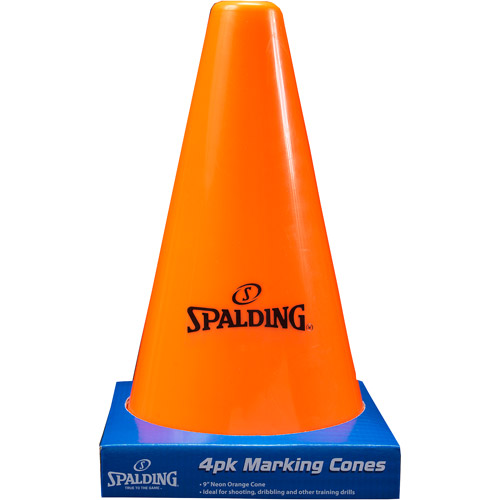 "Spalding 9"" Orange Cones, 4-Pack"