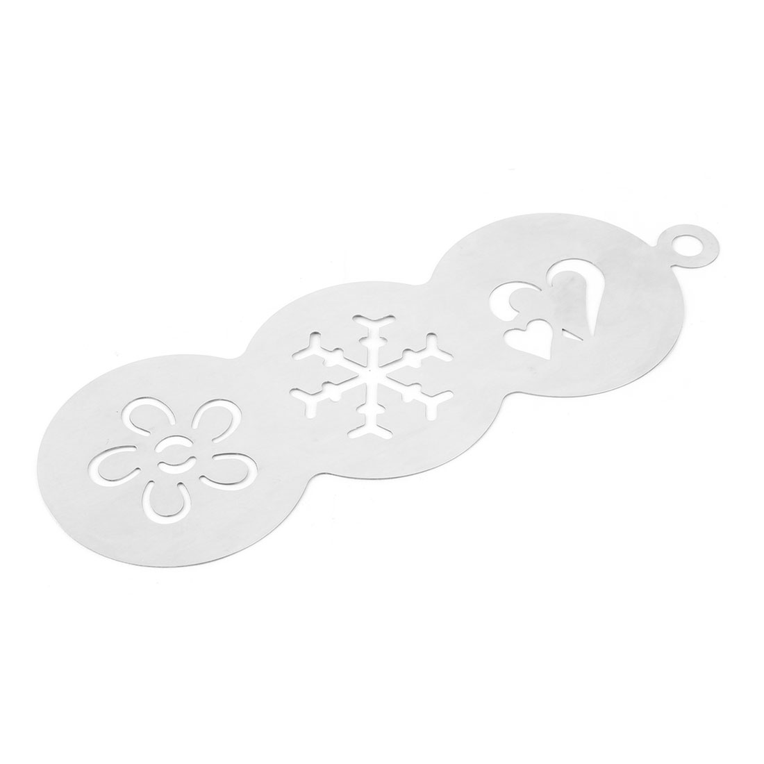 Home Kitchen Metal Baking Stencil Organizer Template Coffee Decorating Tool Mold - image 3 of 4
