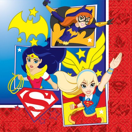 DC Super Hero Girls Lunch Napkin (16 Count)](Find Costume Coupon)