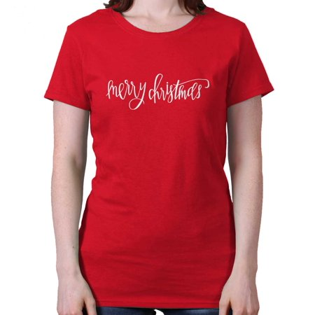 Merry Christmas Shirt | Holiday Cheer Cool Gift Idea Season Ladies T-Shirt for $<!---->
