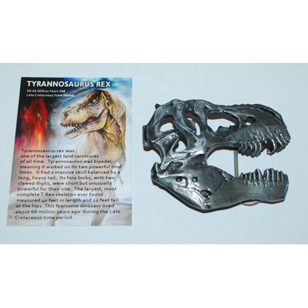 Dinosaur Skull Metal Belt Buckle T-Rex (Tyrannosaurus Rex)