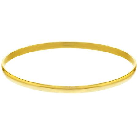 de54f7c8f55 14k Gold Plated Plain Classic Thin Bangle Bracelet Girls Kids