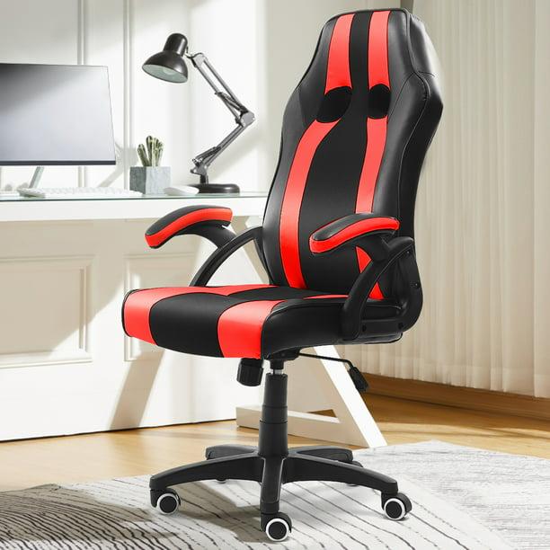 Kadell Pu Leather Racing Style Gaming Chair Executive High Back Office Chair Computer Desk Task Walmart Com Walmart Com