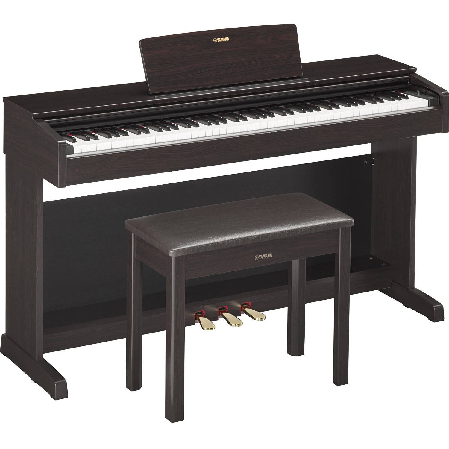 Yamaha YDP143R Digital Home Piano with Bench, Rosewood