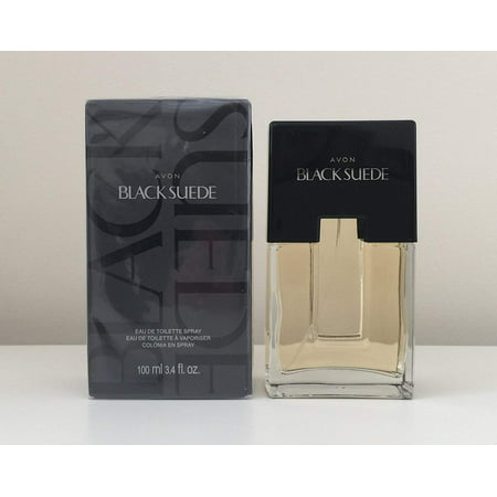 Avon Cologne Spray Black Suede for Men Eau De Toilette, Smooth Scent 3.4 oz
