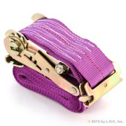 "1 Web 2x16 Ratchet Strap Tiedown for E-Track 16' x 2"" Purple Tie Down Truck Trailer Moving Van Cargo"
