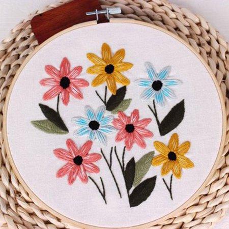 SHOPFIVE 1 Piece Set Diy Manual Sewing Cross Stitch Fabric Embroidery Set  Cost-effective